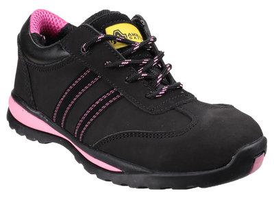FS47 Ladies Black & Pink Safety Trainer