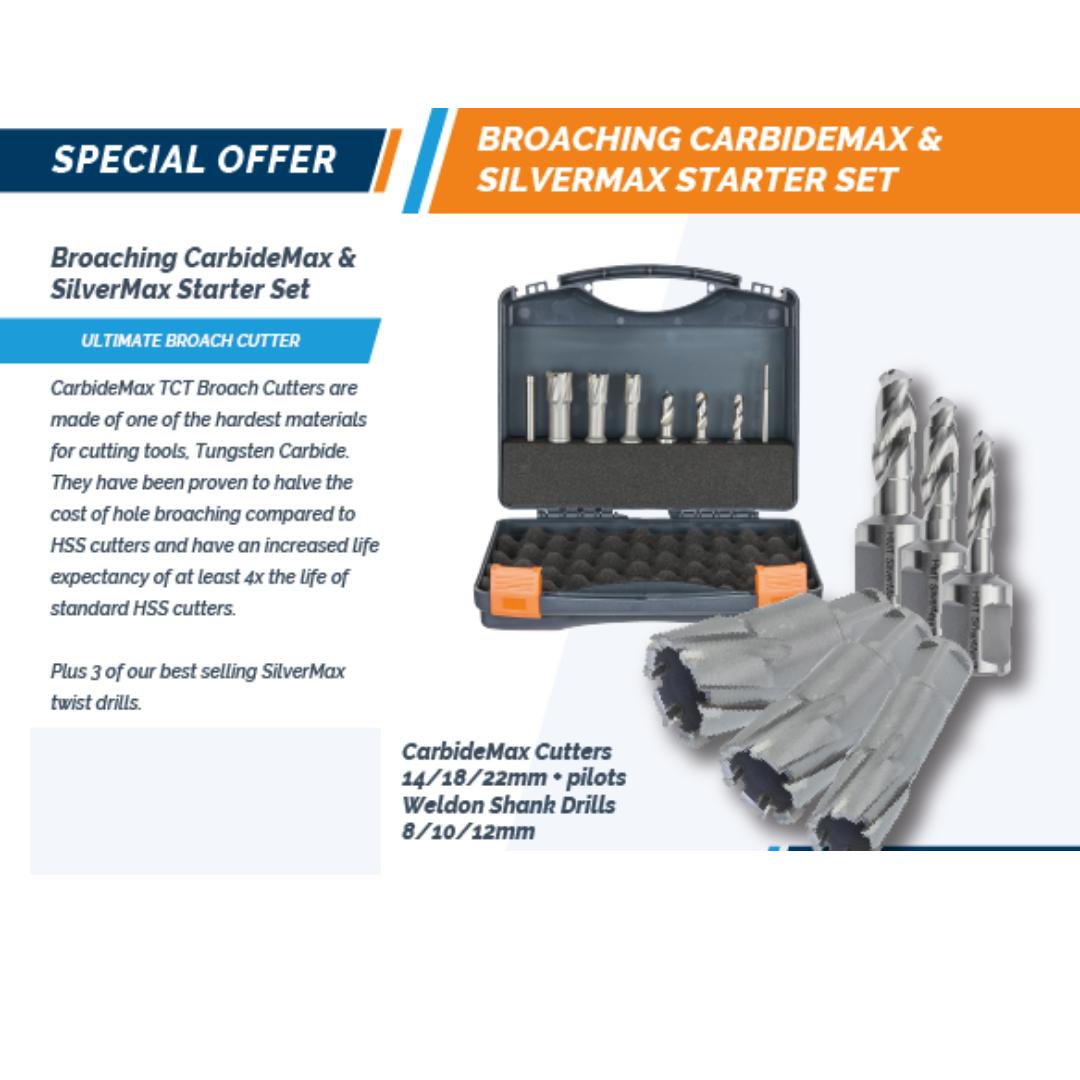 Versadrive Carbidemax 40 TCT Cutters inc 14mm, 18mm & 22mm Set JA-201075-SET