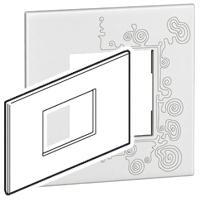Arteor (British Standard) Plate 3 Module 2 Gang Square Tattoo | LV0501.0147