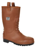 PVC Rigger S5 Boot Brown S1P