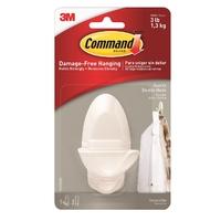Command White Double Hooks - 17087Q