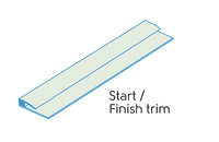 2.50m - 2 PART START/FINISH TRIM MINT