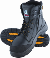 Steel Blue Torquay Lace Up/Zip Comp. Toe 150mm Safety Boot