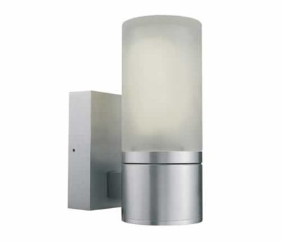 ONE Light Aluminium Surface Wall Light with Opaque Glass E27 IP54