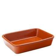Tapas Rectangular Dish Terracotta 19cm x 14cm  Carton of 22