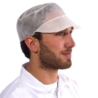 Supertouch Peaked Cap, White (500 per pack)