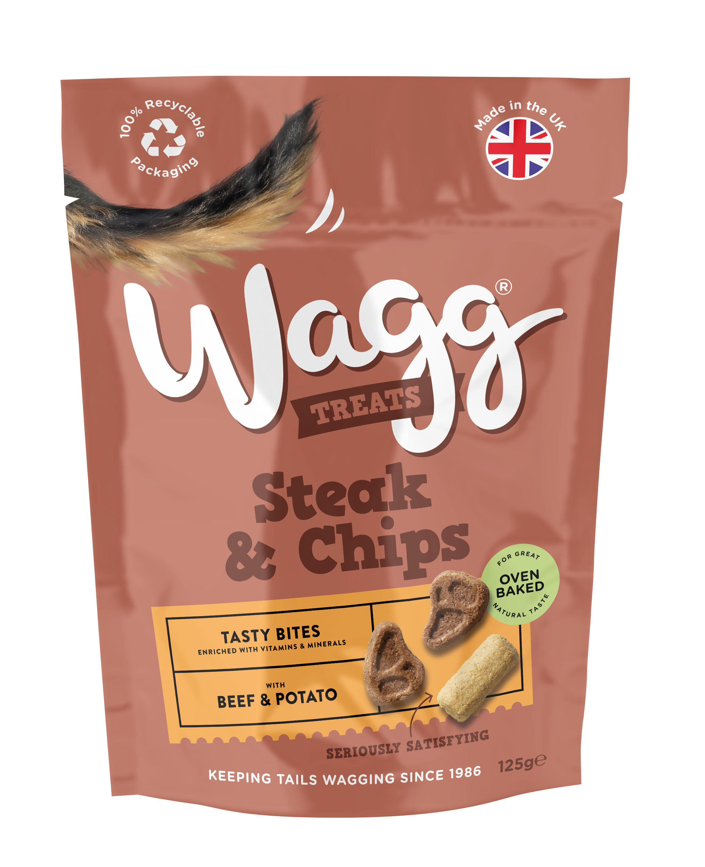 Wagg Dog Treats Steak & Chips 125g x 7