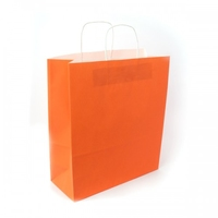 BAG SHOPPER new  ORANGE 32X13X40CM  PKTS 25