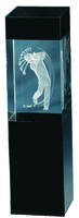 15cm Crystal 3D Golf Trophy (Plain Box)
