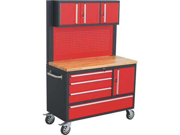 Tool Chest with WorkTop & Upper Cabinet 48 inch