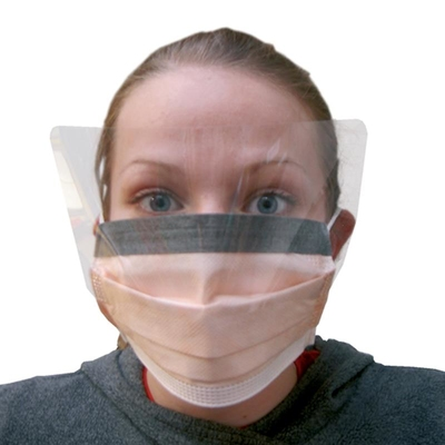 Face Mask With Eye protection c/w Ties (25)
