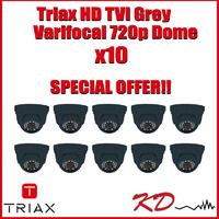 Triax Varifocal 720p TVI Dome  Grey X 10