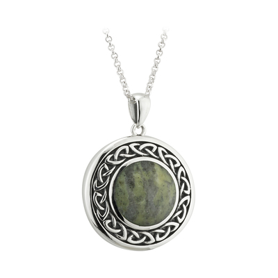 ROUND MARBLE CELTIC PENDANT