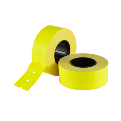 LYNX CT1 21x12mm Labels - Fluorescent Yellow Removable (Sleeve 10k)