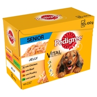 Pedigree Pouches Senior - Jelly 100g 12-pack x 4