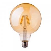 6w G95 LED Filament E27 2200K Amber Glass