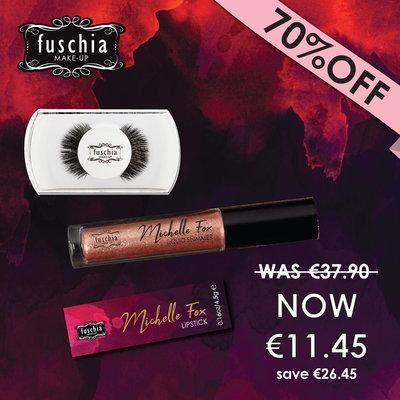 Michelle Fox Lipstick, Shimmer, Lashes