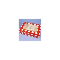 90067 6 CUPCAKE/MUFFI N-RED/WHT