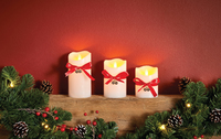 3 Pce Flameless Led Candles