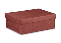 BOX & LID BURGUNDY 300X230X110mm
