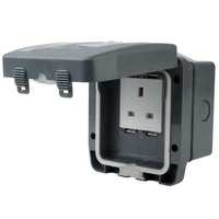 13A 1 Gang Unswitched Socket