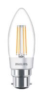 4.5W-(40W) PHILIPS CLA LEDCANDLE D  B35 B22 827 CL