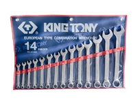 KING TONY Metric Combination Spanner Set 14 Piece