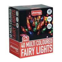 KINGFISHER 40 MULTI COLOURED CHRISTMAS FAIRY LIGHTS