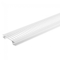 PVC WHITE SOFFIT VENT STRIP 80MM