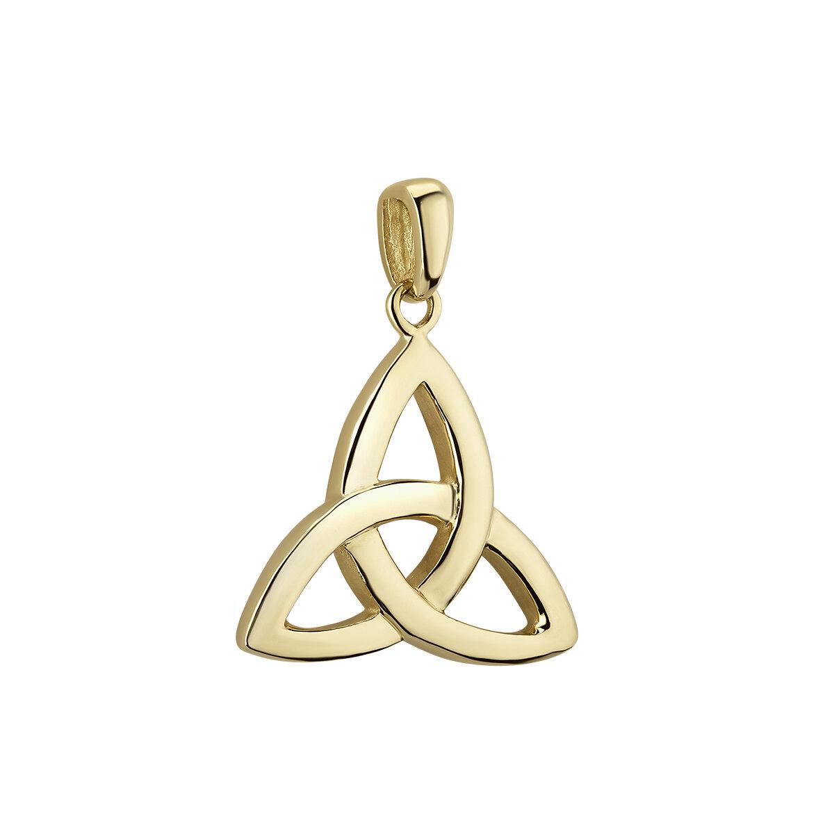 14k gold small trinity knot charm s8768 from Solvar