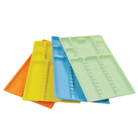 INSTRUMENT TRAYS PLASTIC YELLOW WITH RACK