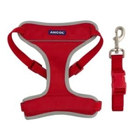 Ancol Travel & Exercise Harness Medium Red x 1