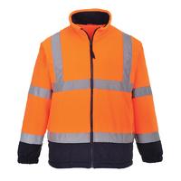 Portwest Hi-Visibility 2-Tone Fleece Hi-Vis Orange/Navy