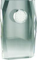 15cm Faceted Crystal Clock (Satin Box)