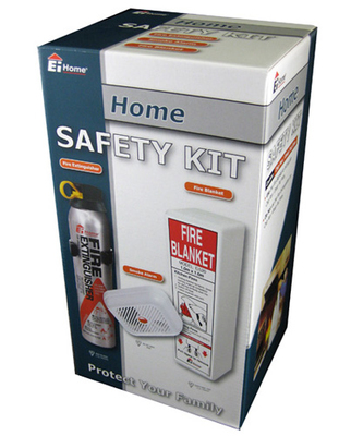 Home Fire Safety Kit - Extinguisher, Alarm & Blanket