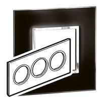Arteor (British Standard) Plate 6 Module Round Mirror Black | LV0501.0165