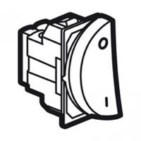 Arteor 20Amp Double Pole 1 Way Switch 1 Module Left - Magnesium  | LV0501.0575