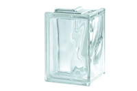 Glass Block Wavy Corner Piece 190 x 190mm
