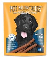 Pet Munchies Dog Stix - Venison 50g x 5 x 10