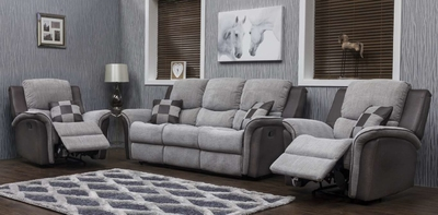 Roberto Grey Fabric Sofa 2