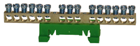 IK021039 15 Way 15x16mmSq Din Rail Terminal Earth