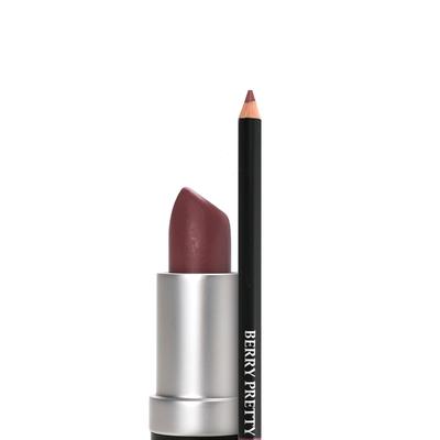 Lippie Liner Combo - Hugs & Kisses lipstick and Berry Lipliner closeup