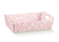 TRAY PINK FLORAL 220X160X50MM