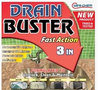 DRAIN BUSTER FAST ACTION 3 IN 1 1LTR