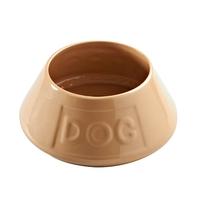 Mason Cash Non-Tip Crock Spaniel Bowl - 'DOG' x 3