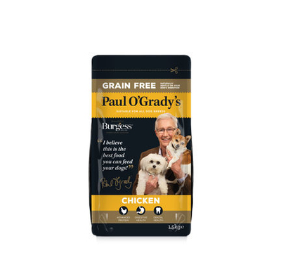 Paul O'Grady Adult Dog - Grain-Free Chicken 1.5kg