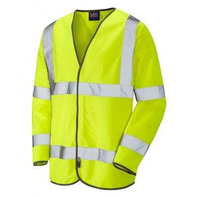 Long Sleeved Yellow Hi-Vis Safety Vest