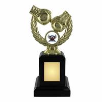 18cm Gold Boxing Trophy on Black Plinth