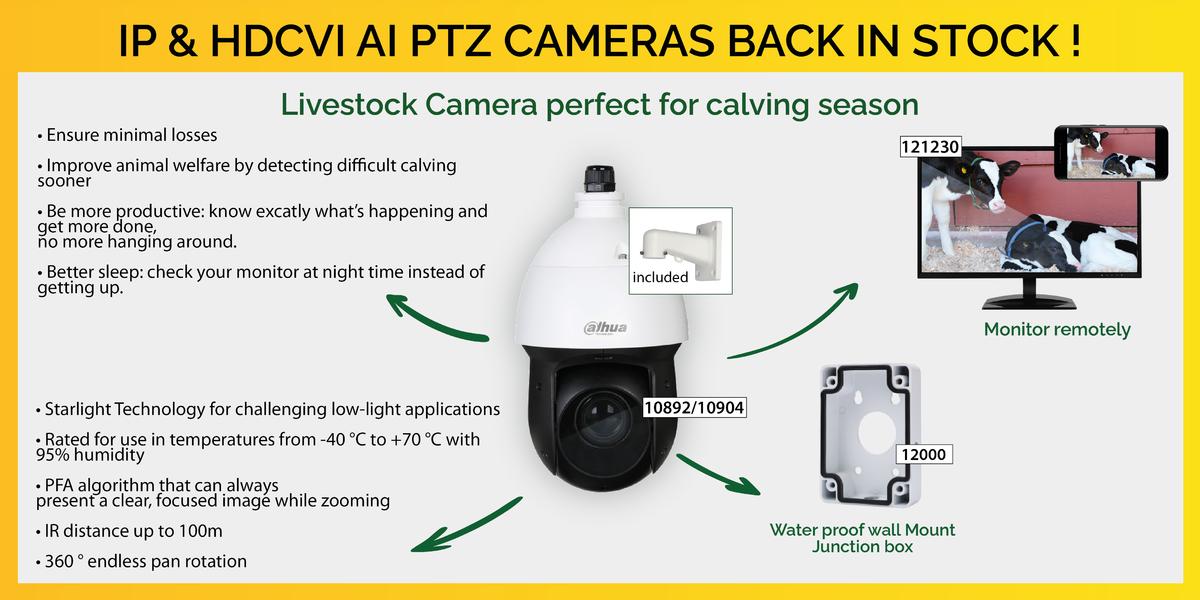 PTZ Back in stock