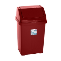 Casa 25L Swing Bin Chilli Red